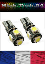 2 VEUILLEUSE 5 LED SMD CANBUS T10 W5W ANTI ERREUR ODB à 5 LED  BLANC