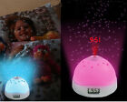 Color-Change LED Star Night Light Magic Projector Alarm Clock Battery Powered