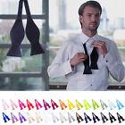 New Hot Sale Fashion Adjustable Mens Multi Color Silk Self Bow Tie Necktie Ties*