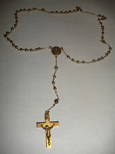 Vintage 10k Gold Rosary bracelet with Jesus Cross or child necklace 9.5gr