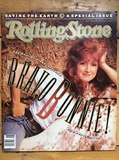 Rolling Stone #577 Bonnie Raitt cover Rickie Lee Jones, Saving The Earth Special