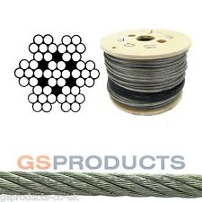 4mm 7x19 Galvanised Steel Wire Rope Cable 1045kgs MBL Price Per Meter FREE P+P
