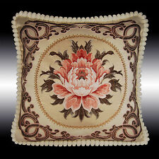 RARE DAMASK TAPESTRY SOFT VELVET THROW PILLOW CASE CUSHION COVER CHAIR PAD 19""