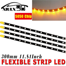 "12""/30CM 4pcs Yellow Car Motor Truck Flexible LED Strip Light Bar Waterproof 12V"