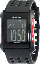 Armitron Mens Sport Chronograph Digital Dial  Black And Red Watch 40/8177RED
