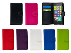 Leather Wallet/Flip Book Case Cover For Microsoft/Nokia Lumia Phones+Screen Film