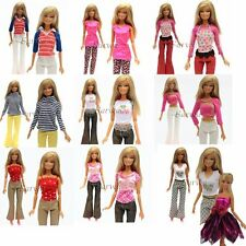 5 Sets Handmade Blouse with Trousers Pants for Barbie Doll  by Barwa Xmas Gift