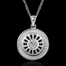 Rad Zirkonia Halskette Anhänger mit 925 Silber Kette 1154
