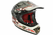 FULL downhill motocross in fibra di vetro FACE CASCO BICI B.E. Dragon 55-56cm Grigio