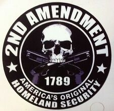 2nd AMENDMENT STICKER DECAL GUN PERMIT