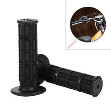 "BLACK Rubber 22mm 7/8"" ATV Dirt Bike Hand Grips Handlebar For Honda Suzuki"