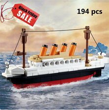 SALE! 194 pcs Titanic Building Blocks Kids Toy for Children Gift New DIY Xmas