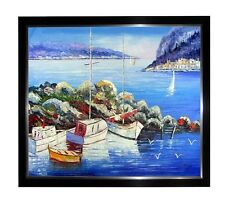 RARE OIL PAINTING OF SANTORINI GREECE ISLANDS