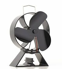 Eco Friendly 3-Blade Heat Powered Stove Fan For Wood Log Burners