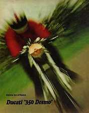 Q59 Clipping-Ritaglio 1971 Ducati 350 Desmo prova su strada