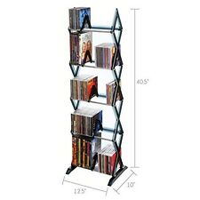 Dvd Rack 130 CD/90 DVD/BluRay/Games 5-Tier Media Storage Rack New