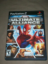 MARVEL ULTIMATE ALLIANCE PS2 PLAYSTATION 2 TESTED COMPLETE NICE SHAPE