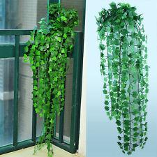 8.2 feet Künstliche Efeu-Blatt Garland Pflanzen Vine Fake Foliage Flowers