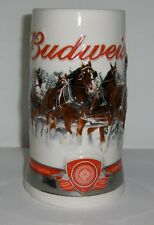 2011 Budweiser Holiday Mug - Christmas Beer Stein  issued 5 Holiday Seasons ago