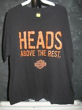 Harley-Davidson Classic Black Heads Above the Rest XL T-Shirt