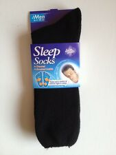 MENS THERMAL BRUSHED SLEEP BED SOCKS BLACK  UK  SIZE 6-11