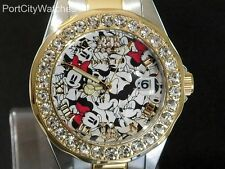 Invicta Womens Disney® Two Tone S.STeel Limited Edition Watch w/3 Slot Dive Case