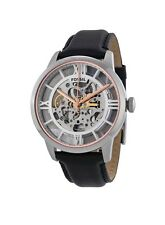 NEW Fossil Townsman Automatic See Through Dial Black Leather Mens Watch ME3041