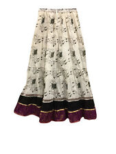 BOHO PEASANT SKIRT ANIMAL PRINT ETHNIC INDIAN GYPSY HIPPIE FASHION LONG SKIRTS
