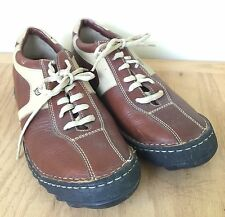BORN  Bicycle toe Oxfords Lace-up Casual Shoes Mens 10 Two-Tone Brown/tan