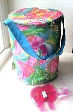 New Lilly Pulitzer Wine Ice Bucket Cooler Picnic Pink Elephants Palm Beach Decor
