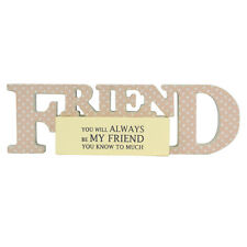 Special Friend Sentiments From The Heart Word Block Plaque Lovely Gifts Range
