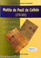 MATTIA DE PAOLI DA CELLOLE (1770-1831)-Ed.MAGNA GRAECIA-religione