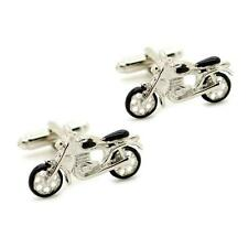 MOTORCYCLE CUFFLINKS Pair HIGH QUALITY Bike Biker Harley w GIFT BAG Father Groom