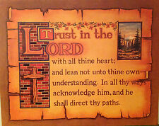 Trust in the Lord  Print.