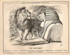 Vintage Punch Cartoon November 1876 - Northern African Conflicts