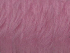 Pink Blossom Plain Faux Fur Fabric Short Hair 150cm Wide SOLD BY THE METRE