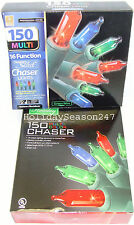 150 Chaser Lights Multi Color 16 Function Christmas Holiday Outdoor Decoration