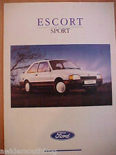 Ford Escort Sport Sales Folder FA921 July 1989 UK Market