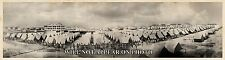 "1918 WW1 Fort Crockett Galveston TX Vintage Panoramic Photograph 7"" x 26"" Long"