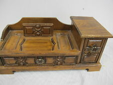 YOSHIKAWA WOOD WOODEN DRESSER JEWELRY BOX MENS VALLET VINTAGE