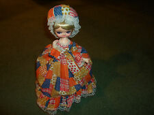 "Vintage Musical Doll ""Hello Dolly"" Song Big Eyed Blonde Lady Made in Korea"
