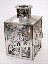Day of the Dead Sugar Skull Lantern, Tin Lantern, Sugar Skull, Mexican Folk Art