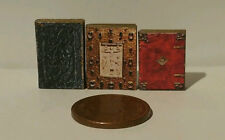 Dolls House Books Medieval Range 1/12th Set of 3 With Real Printed Pages