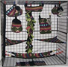 Carlsbad *15 PC Sugar Glider Cage set *Rat * double layer Fleece