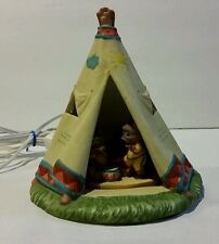VINTAGE 1991 ENESCO CORP FRIENDS OF A FEATHER LIGHT UP TEE PEE