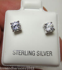 1/2 ct Round cut Brilliant cut stud Earrings 925 Solid Sterling Silver Snap back