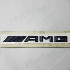 New Genuine AMG Black Gloss Rear chrome emblem badge logo for Mercedes Benz