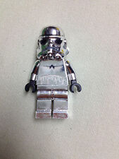 Chrome Silver StormTrooper LEGO Star Wars Minifigure Storm Trooper no blaster