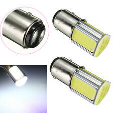 2X P21/5W 1157 BAY15D 4 COB LED Brake Turn Signal Rear Light Bulb Lamp White 12V