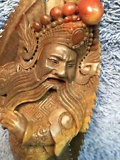 """Vintage Antique Chinese Soapstone Carving / Statue of Elder Nobleman 11"""" Tall"""